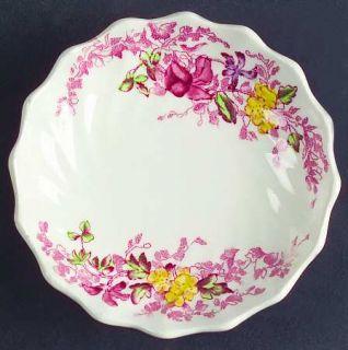Spode Fairy Dell (Swirled) Butter Pat, Fine China Dinnerware   Multicolor Floral