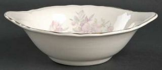 Edwin Knowles Peony Lugged Cereal Bowl, Fine China Dinnerware   Pink&Yellow Flow