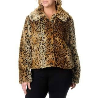 Excelled Plus Womens Animal Print Jacket