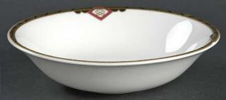 Spode Harvard Coupe Cereal Bowl, Fine China Dinnerware   Black And Gold Band, Re