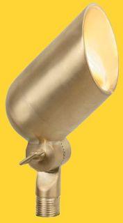 Corona Lighting CL535BBR 50W Low Voltage Brass Bullet Directional Light w/Easy Turn amp; Lock Shroud Natural Brass, 21/2 x 43/4