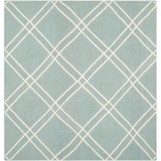 Safavieh Dhurries Light Blue/Ivory Rug DHU638C Rug Size: Square 6 x 6
