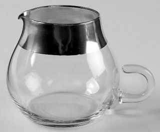 Dorothy Thorpe Silver Band Creamer   Wide 1 Silver Band,V Shaped Bowl