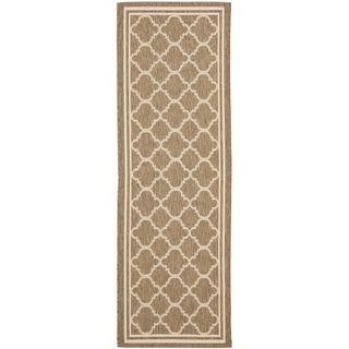 Safavieh Indoor/ Outdoor Courtyard Brown/ Bone Rug (23 X 18)