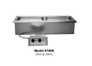 Delfield Drop In Hot Food Well Unit, 3 Pan Size, Narrow