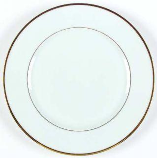 France Venda Fve2 Dinner Plate, Fine China Dinnerware   White, Gold Verge, 1/8