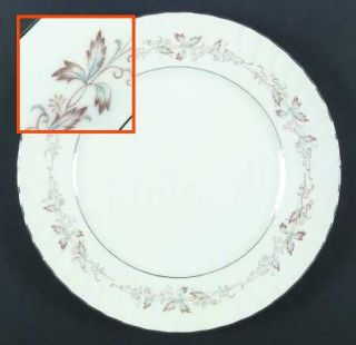 Fine China of Japan Jacqueline Dinner Plate, Fine China Dinnerware   Gold & Blue