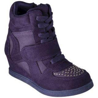 Girls Cherokee Harmony High Top Sneaker Wedge   Purple 4