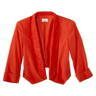 AMBAR Womens Jacket w/ Lace Trip   Red Hot Lips M
