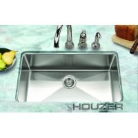 Houzer NOG 4150 1 Nouvelle Kitchen Sink Large Single Bowl Stainless Steel 29 1/6