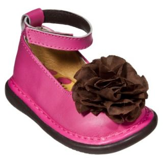 Little Girls Wee Squeak Ankle Strap Shoe   Hot Pink 5