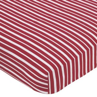 Treasure Cove Pirate Fitted Crib Sheet   Stripe