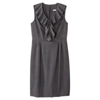 Merona Petites Sleeveless Sheath Dress   Gray 6P