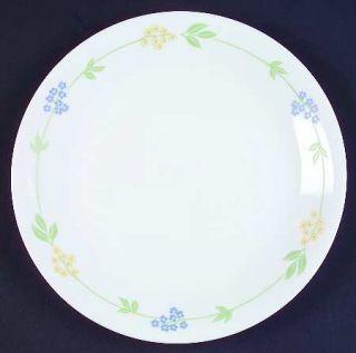 Corning Secret Garden Luncheon Plate, Fine China Dinnerware   Corelle,Blue & Yel