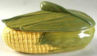 Shawnee Corn King 1.5 Quart Oval Covered Casserole, Fine China Dinnerware   Ligh