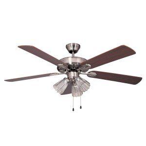Ellington Fans ELF E WDS52BC5C Windsong 52 Ceiling Fan w/ 3 Lights light kit