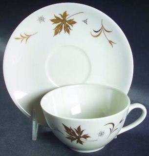 Royal Jackson Enchantment Flat Cup & Saucer Set, Fine China Dinnerware   Parisie