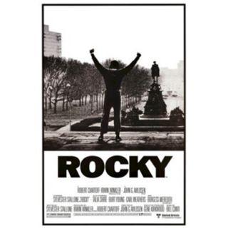 Art   Rocky   Movie Score Arms Up Framed Poster
