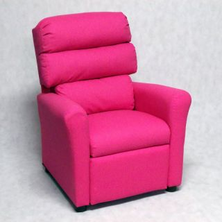 Brazil Furniture Waterfall Back Child Recliner   Dixie Pink   1455 DIXIE PINK