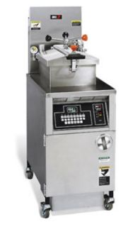 BKI Large Volume Pressure Fryer w/ Quick Disconnect Filter, Computer Control, NG