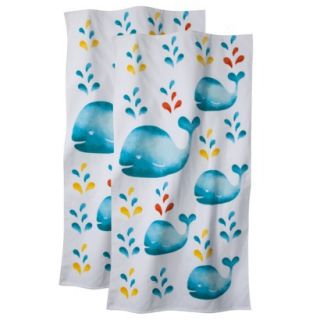 Whales Beach Towel   2 pack