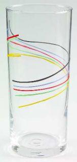 Studio Nova Color Threads 16 Oz Glassware Highball, Fine China Dinnerware   Mult