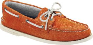 Mens Sperry Top Sider A/O 2 Eye Washed   Orange Full Grain Leather Sailing Shoe