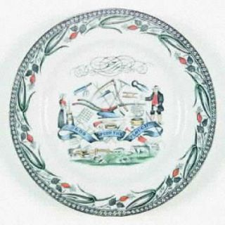 Burgess & Leigh Farmers Arms (Gold Trim) Luncheon Plate, Fine China Dinnerware