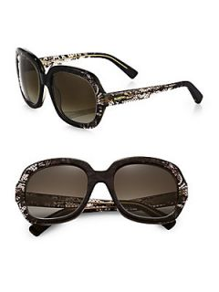 Valentino Lace Patterned Sunglasses   Grey Faded