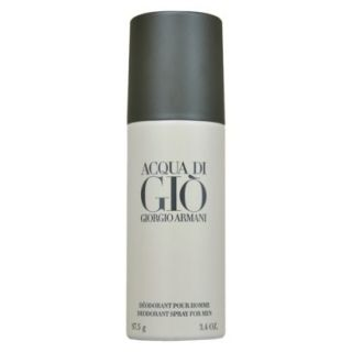Mens Acqua Di Gio by Giorgio Armani Deodorant Spray (Can)   3.4 oz