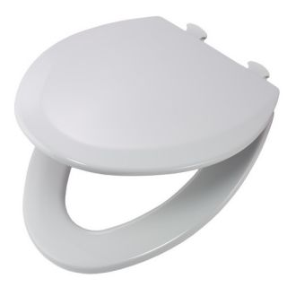 Bemis 1500EC162 Easy Clean amp; Change Elongated Closed Front Molded Wood Toilet Seat Silver