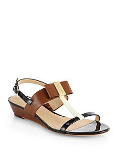 9c6017193408 ... Kate Spade New York Vinny Leather T Strap Wedge Sandals Cream ...