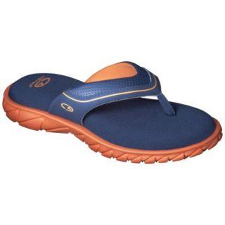 Boys C9 by Champion Pat Flip Flop Sandals   Navy/Orange XL