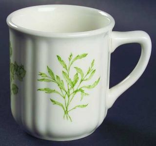 Richard Ginori Fresh Herbs Mug, Fine China Dinnerware   Multimotif,Herbs,Green R