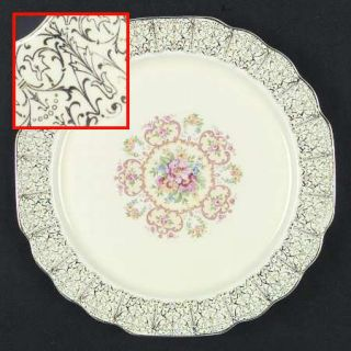WS George 5s9125 Dinner Plate, Fine China Dinnerware   Lido,Canarytone,Floral,Go