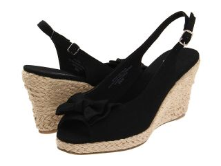 Annie Dandi Womens Wedge Shoes (Black)