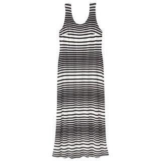 Merona Womens Plus Size Sleeveless V Neck Maxi Dress   Black/Cream 1