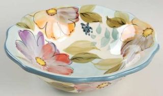 Gibson Designs Crazy Daisies Soup/Cereal Bowl, Fine China Dinnerware   Handpaint