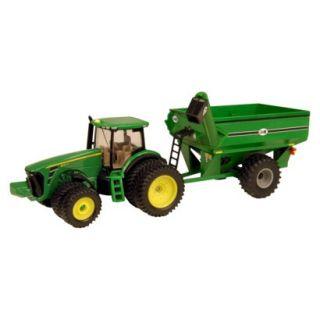 John Deere 8320R with Grain Cart