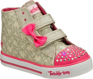 Infant/Toddler Girls Skechers Twinkle Toes Shuffles Sprinkle Steps Vegetarian S