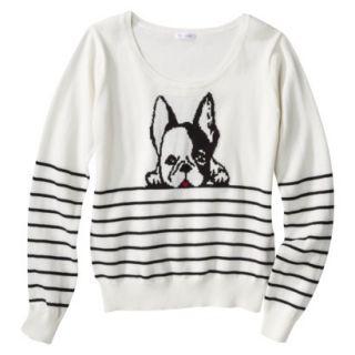 Xhilaration Juniors Puppy Sweater   Cream XXL(19)