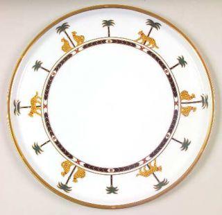 Christian Dior Casablanca Cake Plate, Fine China Dinnerware   Leopards And Palm