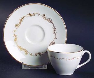 Royal Doulton French Provincial Flat Demitasse Cup & Saucer Set, Fine China Dinn