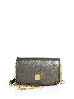 MCM First Lady Mini Shoulder Bag   Dark Slate