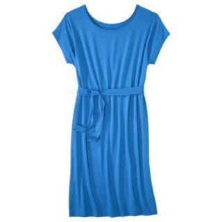 Merona Womens Knit Belted Dress   Brilliant Blue   M