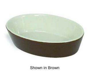 Browne Foodservice Ceramic Baker, Oval, 9 oz, Brown