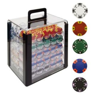 Trademark Global Tri Color Ace/King Clay Poker Chips