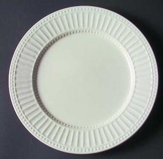 Philippe Richard Brentwood Dinner Plate, Fine China Dinnerware   All White, Ribb