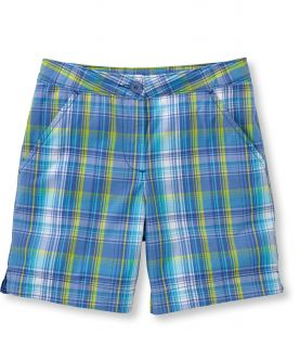 Girls Vacationland Plaid Shorts Girls