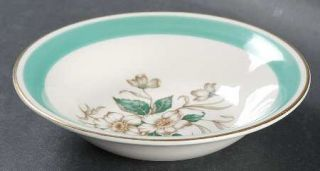Edwin Knowles Magnolia Fruit/Dessert (Sauce) Bowl, Fine China Dinnerware   Green